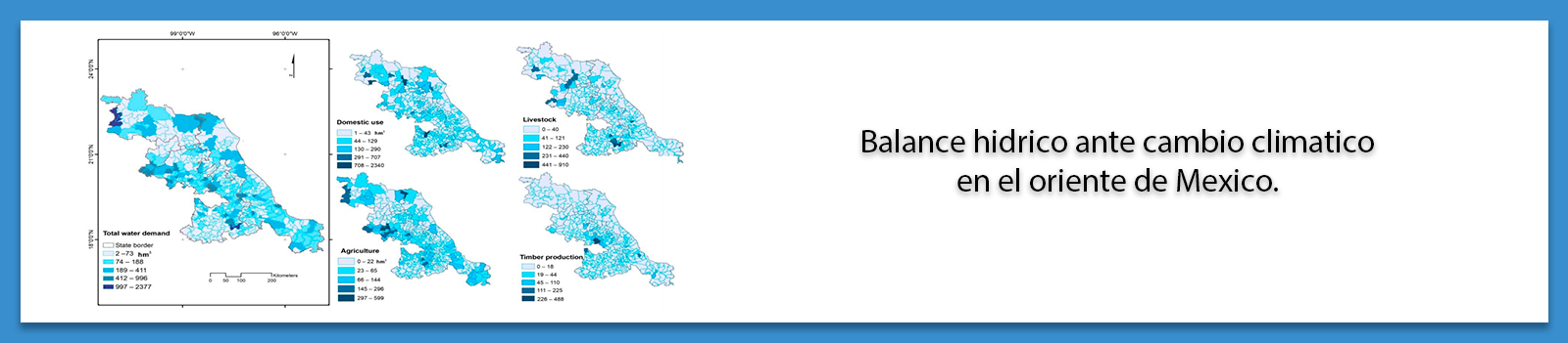 Balance hidrico ante cambio climatico en el oriente de Mexico.