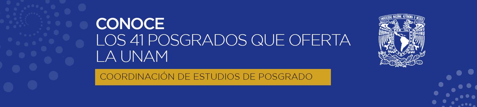 Banner ESTUDIOS DE POSGRADO